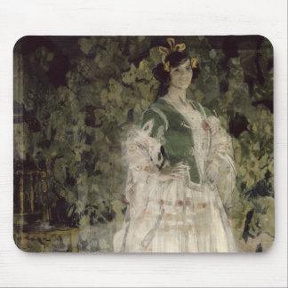 Portrait of Maria Kusnetso va-Benois as Carmen Mouse Pad