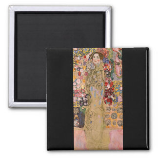 Portrait of Maria Munk by Gustav Klimt 2 Inch Square Magnet