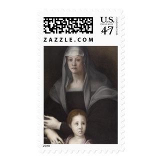 Portrait of Maria Salviati de' Medici with Giulia Postage Stamp