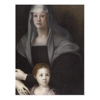 Portrait of Maria Salviati de' Medici with Giulia Postcard