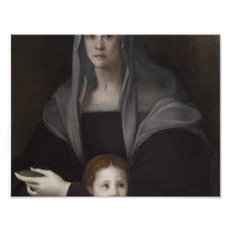 Portrait of Maria Salviati de' Medici with Giulia Poster