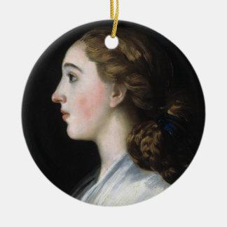 Portrait of Maria Teresa de Vallabriga Goya art Ceramic Ornament
