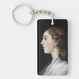 Portrait of Maria Teresa de Vallabriga Goya art Keychain