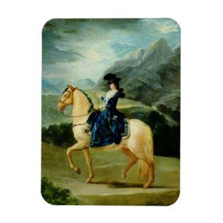 Portrait of Maria Teresa de Vallabriga on horsebac Magnet