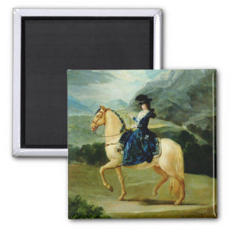 Portrait of Maria Teresa de Vallabriga on horsebac Fridge Magnet