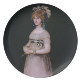 Portrait of Maria Theresa de Bourbon y Vallabriga, Plates