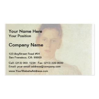 Portrait of Maria Tolstaya by Nikolai Ge Business Card