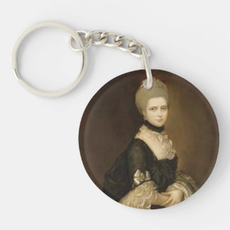 Portrait of Maria Walpole by Thomas Gainsborough Single-Sided Round Acrylic Keychain