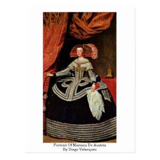 Portrait Of Mariana De Austria By Diego Velazquez Post Cards