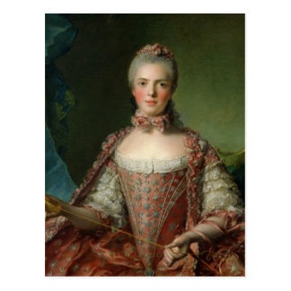 Portrait of Marie Adelaide  1756 Postcard