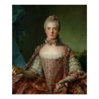 Portrait of Marie Adelaide  1756 Poster