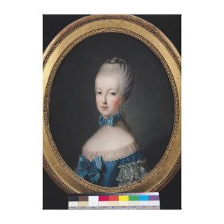 Portrait of Marie-Antoinette de Canvas Print