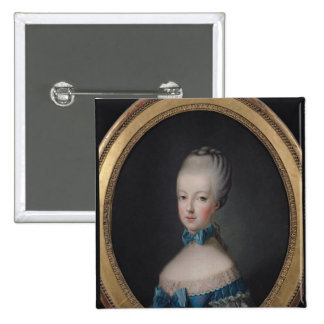 Portrait of Marie-Antoinette de Pinback Button