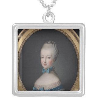 Portrait of Marie-Antoinette de Silver Plated Necklace
