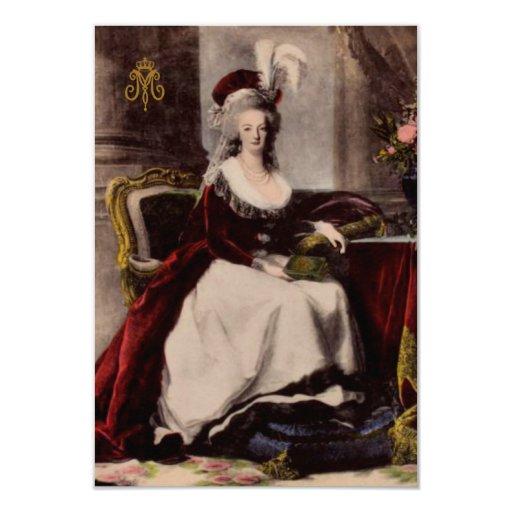 Portrait of Marie Antoinette ~  Invitations / RSVP
