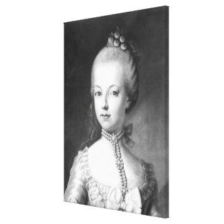 Portrait of Marie-Antoinette  of Habsbourg Canvas Print