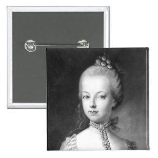 Portrait of Marie-Antoinette  of Habsbourg Pinback Button