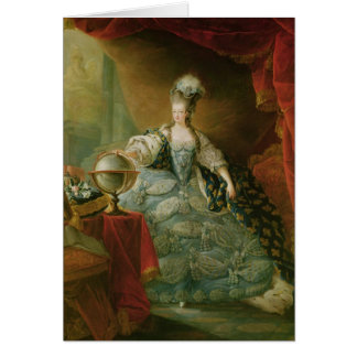 Portrait of Marie Antoinette  Queen of France Card