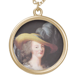 Portrait of Marie Antoinette, Queen of France Gold Plated Necklace