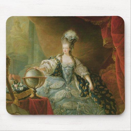 Portrait of Marie Antoinette  Queen of France Mousepads