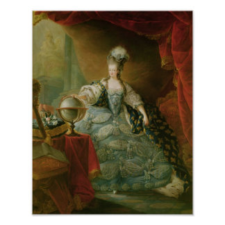 Portrait of Marie Antoinette  Queen of France Poster