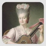 Portrait of Marie-Clothilde of France Square Stickers