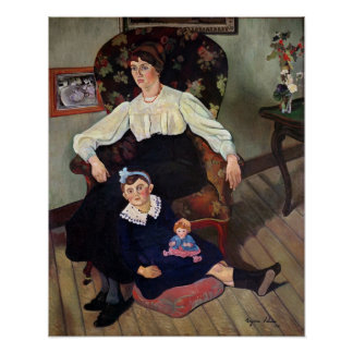 Portrait of Marie Coca and her Daughter, 1913 Poster