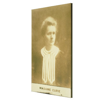 Portrait of Marie Curie Canvas Print