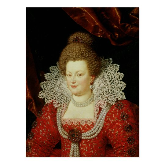 Portrait of Marie de Medici Postcard