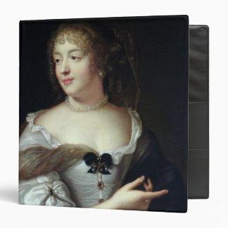 Portrait of Marie de Rabutin-Chantal 3 Ring Binder