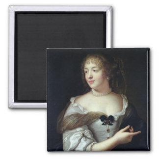 Portrait of Marie de Rabutin-Chantal 2 Inch Square Magnet