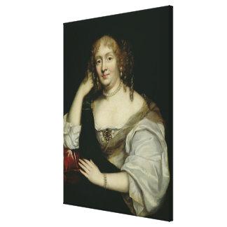 Portrait of Marie de Rabutin-Chantal  Marquise Canvas Print