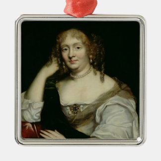 Portrait of Marie de Rabutin-Chantal  Marquise Metal Ornament