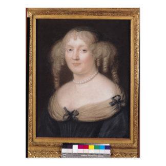 Portrait of Marie de Rabutin-Chantal  Marquise Postcard