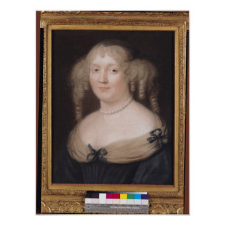 Portrait of Marie de Rabutin-Chantal  Marquise Posters