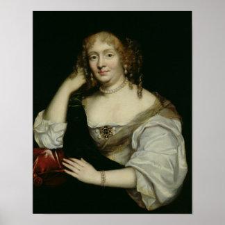 Portrait of Marie de Rabutin-Chantal  Marquise Poster
