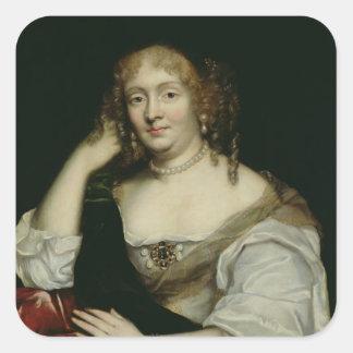 Portrait of Marie de Rabutin-Chantal  Marquise Square Sticker
