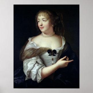 Portrait of Marie de Rabutin-Chantal Poster