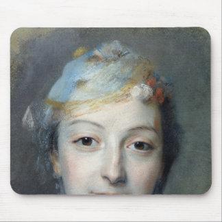 Portrait of Marie Fel  1757 Mouse Pad