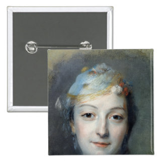 Portrait of Marie Fel  1757 Pinback Button