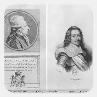 Portrait of Marie Francois Gontier de Biran Stickers