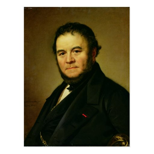 Portrait of Marie Henri Beyle, known as Postcard