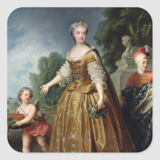 Portrait of Marie Leczinska  after 1725 Square Sticker