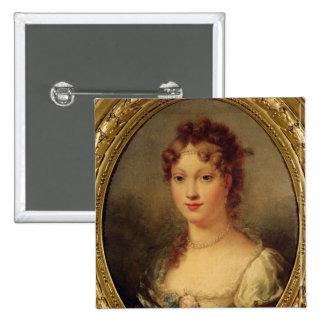 Portrait of Marie-Louise de Hapsburg-Lorraine 2 Inch Square Button