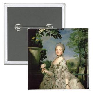 Portrait of Marie-Louise of Bourbon 2 Inch Square Button