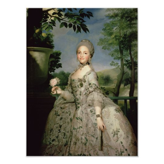 Portrait of Marie-Louise of Bourbon Poster