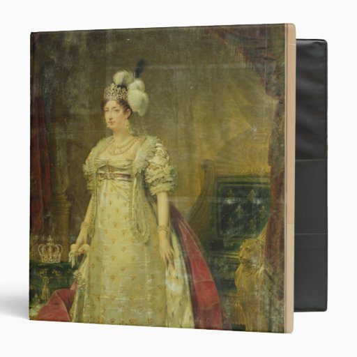 Portrait of Marie-Therese-Charlotte de France 3 Ring Binder