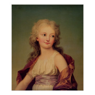 Portrait of Marie-Therese Charlotte of France Poster