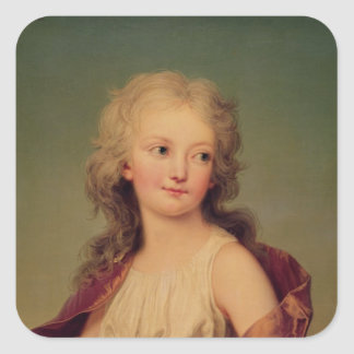 Portrait of Marie-Therese Charlotte of France Square Sticker