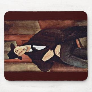 Portrait Of Mario Varfogli By Modigliani Amedeo Mousepad